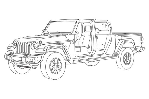 Jeep Gladiator foi registrado no Instituto Nacional da Propriedade Industrial (INPI) (Foto: Reprodução)