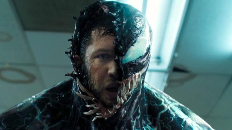 O ator Tom Hardy em cena de Venom (2018) (Foto: Reprodução)