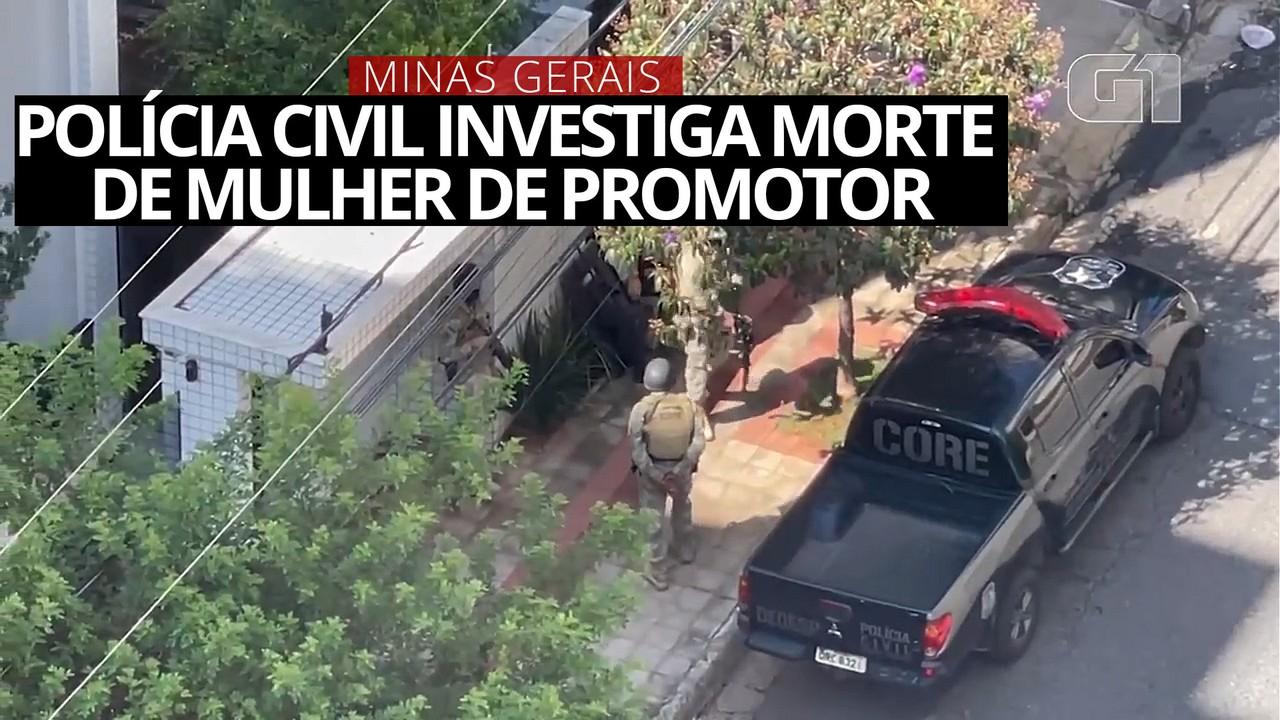 Investigando morte de mulher de promotor, polícia vai até prédio onde casal morava em BH