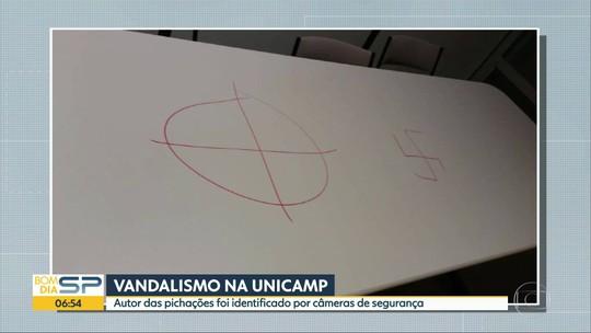 Polícia Civil vai investigar ameaça de chacina e alusão ao nazismo em ato de vandalismo na Unicamp
