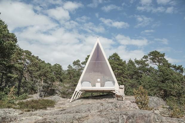 Cabana 100% sustentável pode ser construída em qualquer lugar (Foto: Divulgação)