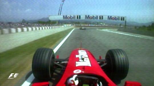 Onboard clássica #16: Barrichello passou irmãos Schumacher de uma vez em Barcelona