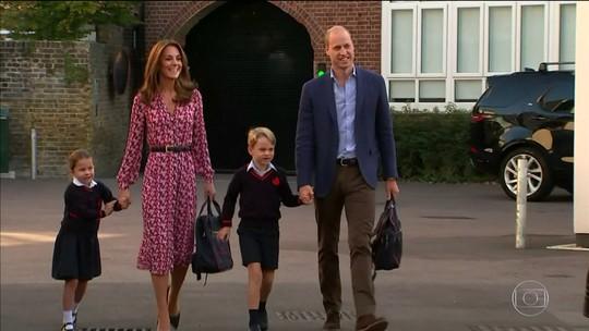 Princesa Charlotte vai para escola em seu 1º dia de aula
