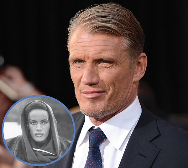 Dolph Lundgren e Grace Jones (Foto: Getty Images)