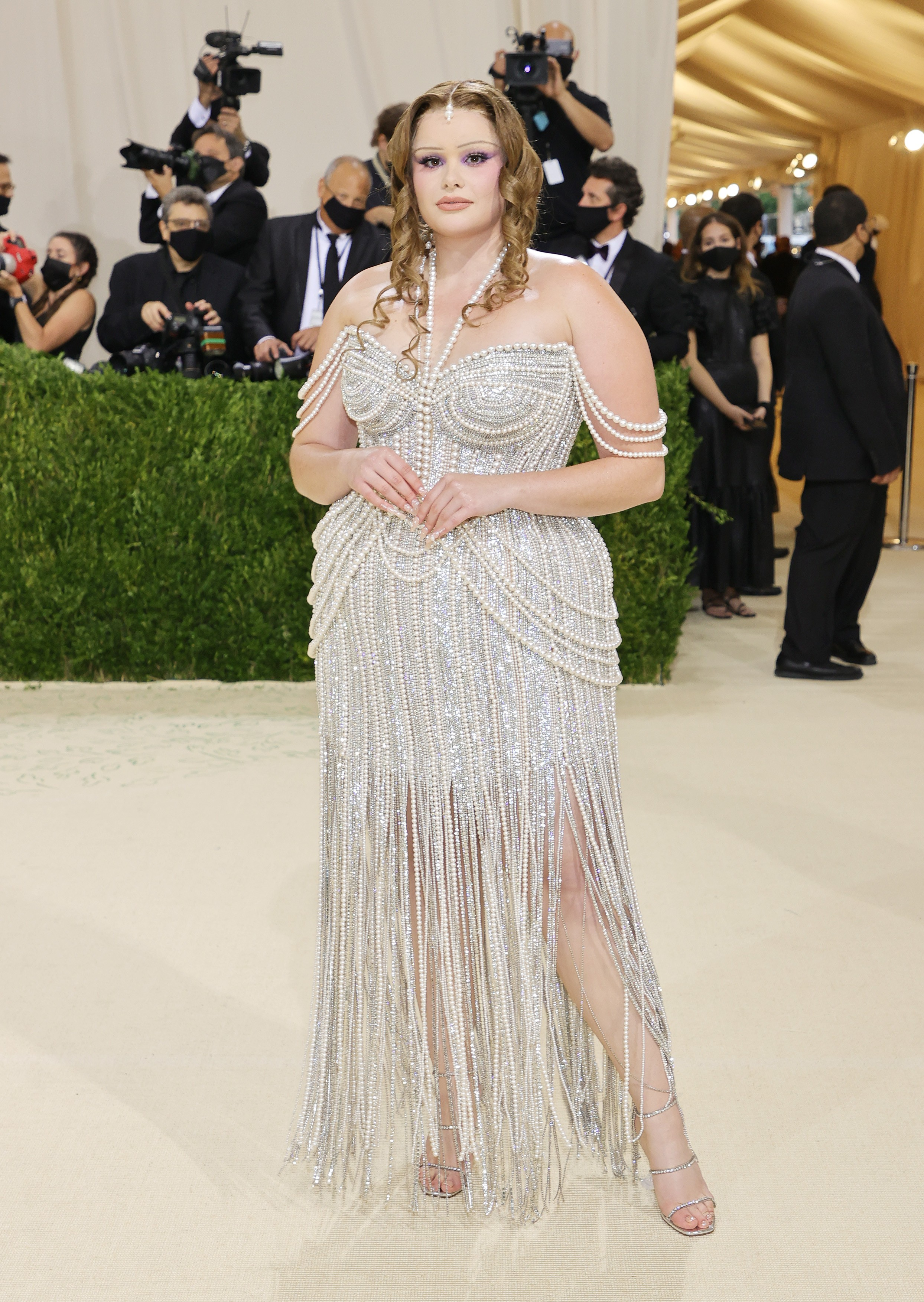 NEW YORK, NEW YORK - SEPTEMBER 13: Barbie Ferreira attends The 2021 Met Gala Celebrating In America: A Lexicon Of Fashion at Metropolitan Museum of Art on September 13, 2021 in New York City. (Photo by Mike Coppola/Getty Images) (Foto: Getty Images)