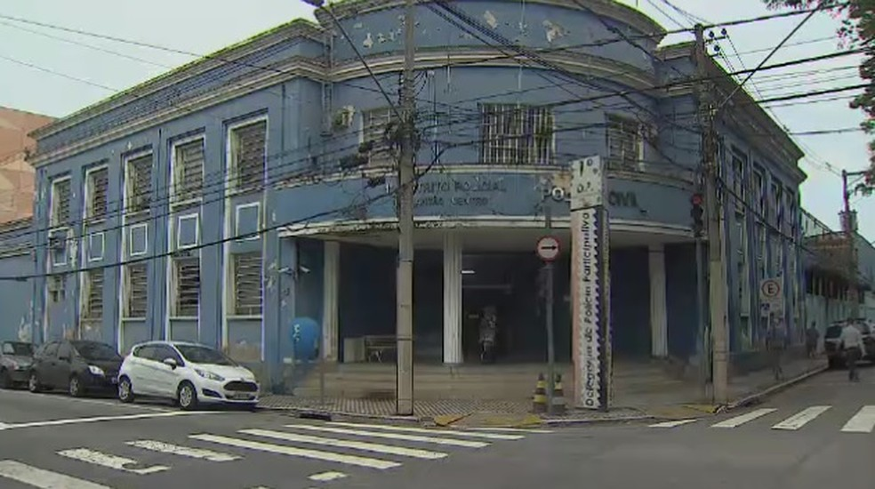 1° DP de São José dos Campos — Foto: Reprodução/TV Vanguarda