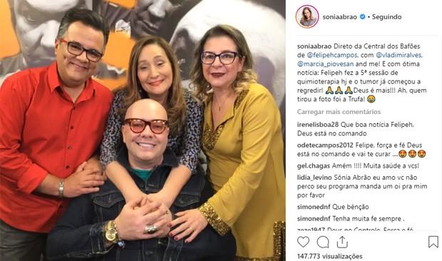 Vladimir Alves, Sonia Abrão, Marcia Piovesan e Felipeh Campos (Foto: Reprodução/Instagram)