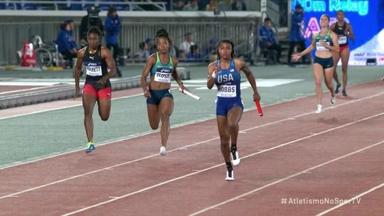 Equipe Brasileira feminina consegue vaga na final do 4x100m do Mundial de Revezamento