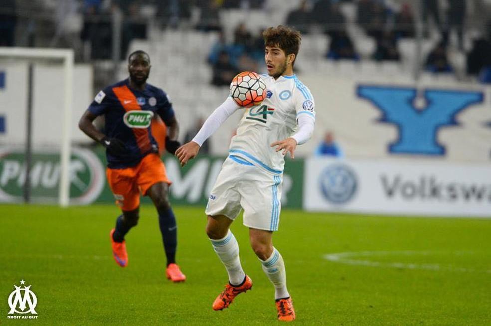 Lucas Silva em ação pelo Olympique na temporada 2015/16 — Foto: Facebook
