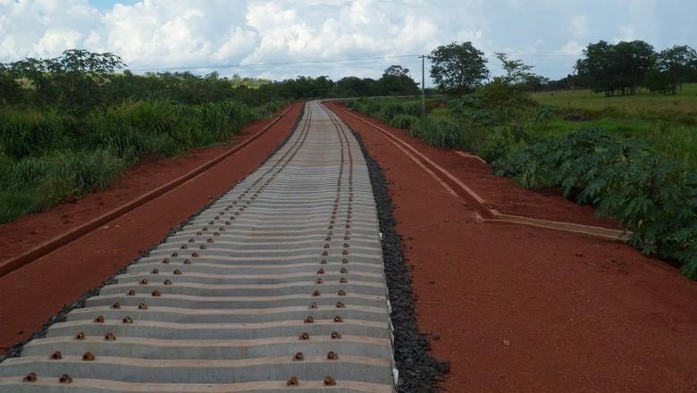 ferrovia-norte-sul-trem-obra (Foto: Divulgação/Ministério do Planejamento)