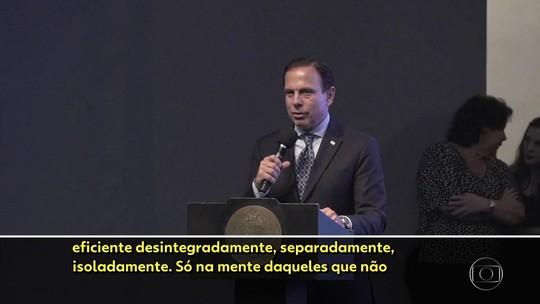 João Doria defende integração das polícias do estado, metropolitanas e municipais