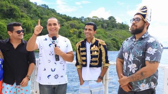 Menilson Filho, Gustavo Trindade e Ramon Coxinha conhecem a Rota do Imperador