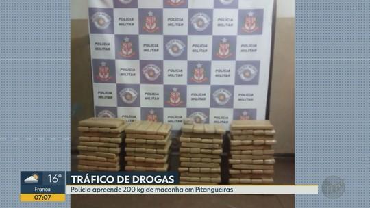 Homem é preso com 200 kg de maconha dentro do carro em Pitangueiras, SP