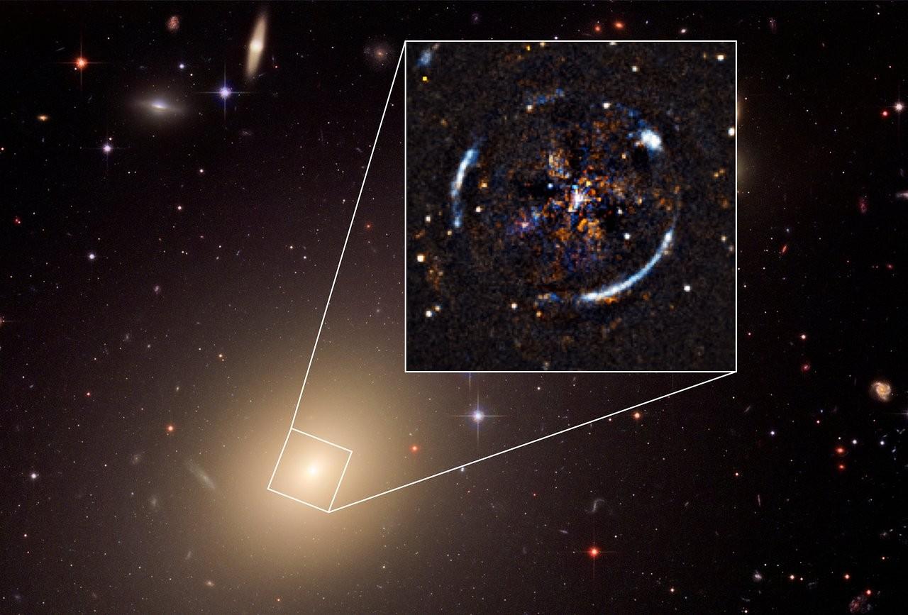Imagem da galáxia próxima ESO 325-G004 criada a partir de dados coletados pelo Telescópio Espacial Hubble da NASA/ESA e pelo instrumento MUSE montado no VLT do ESO (Foto: ESO, ESA/Hubble, NASA)