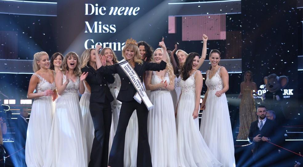 Miss Alemanha 2020, Leonie von Hase, de 35 anos, foi eleita por júri composto apenas por mulheres — Foto: Divulgação/Europa Park