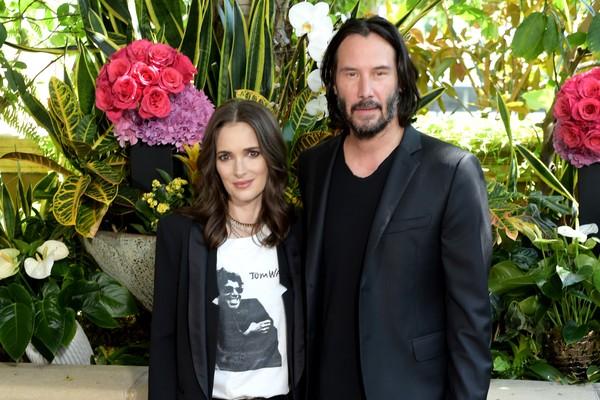 O ator Keanu Reeves e a atriz Winona Ryder (Foto: Getty Images)