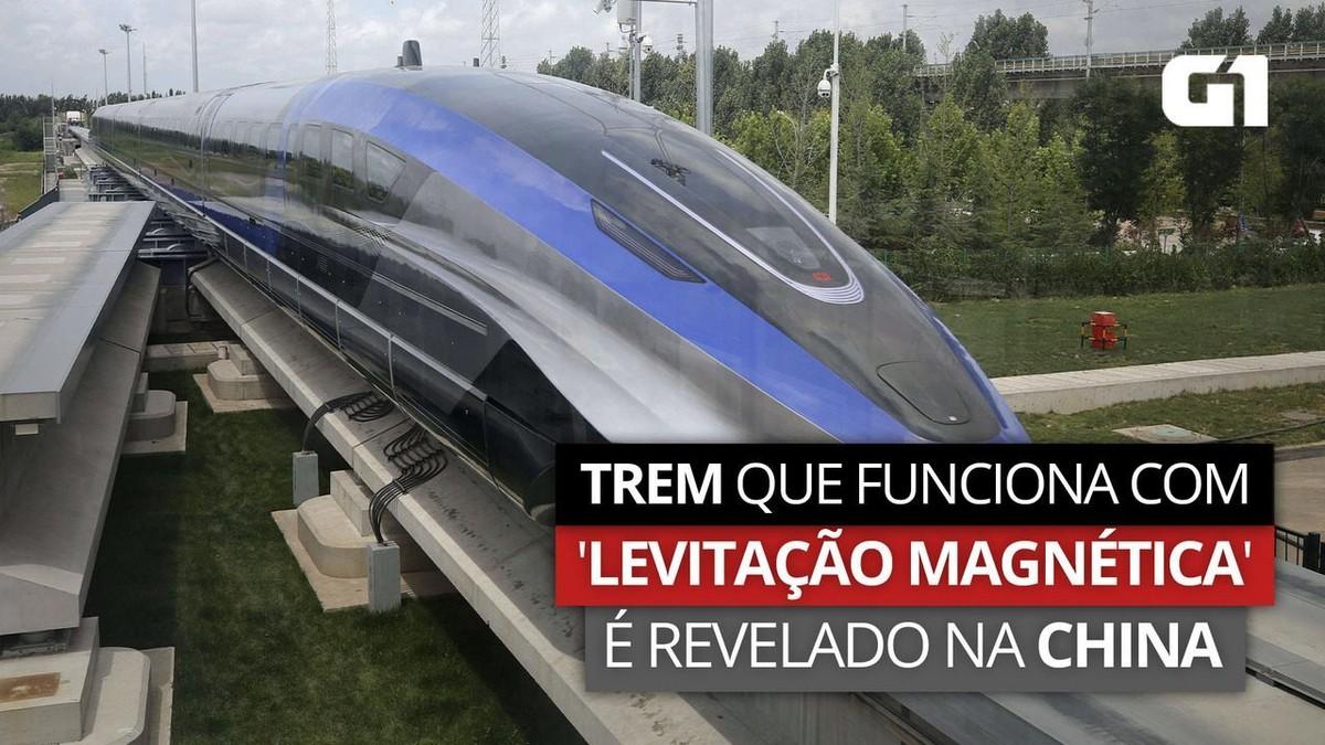 Conheça o trem chinês que 'levita' e chega a 600 km/h