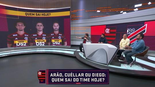Cuéllar sem moral e dúvidas nas laterais: quem joga de titular no Flamengo contra o Athletico-PR?