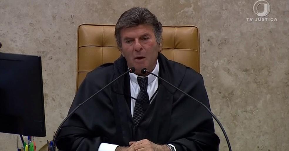 O presidente do STF, Luiz Fux — Foto: Reprodução
