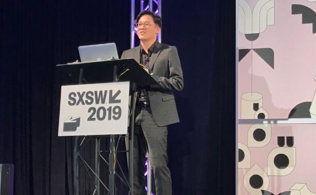 Chris Lee, diretor da SM Entertainment, no SXSW 2019 (Foto: Mariana Iwakura)