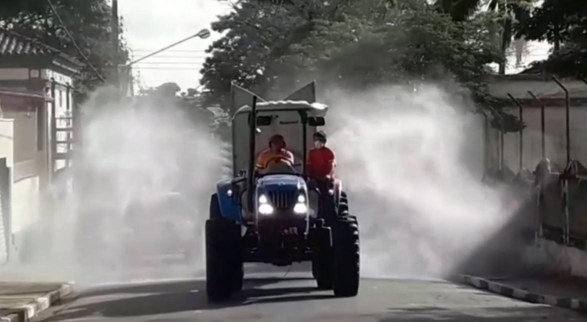Angatuba vai pulverizar ruas da cidade para reduzir presença do novo coronavírus
