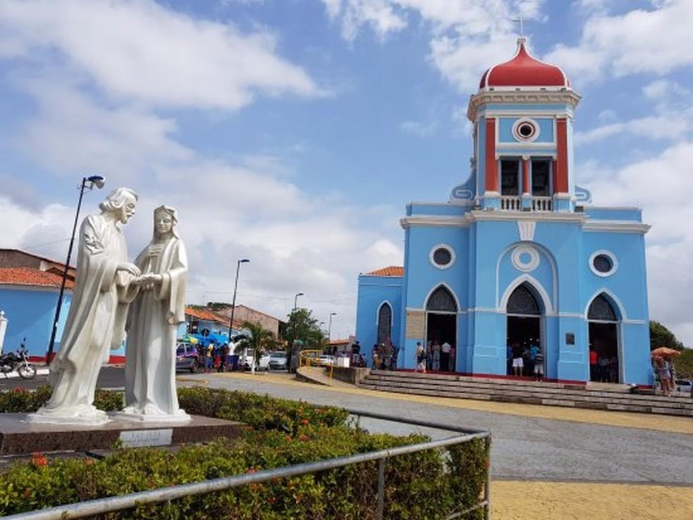 Fachada da Igreja Matriz de São José de Ribamar, no Maranhão — Foto: Reprodução/Trip Advisor