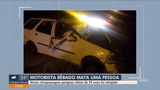 Motorista é preso após causar acidente com morte na SC-445 em Içara