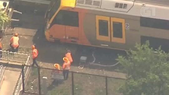 Acidente de trem em Sydney deixa feridos