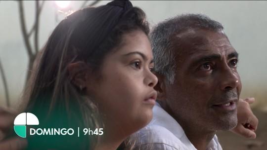 """""""Pai Atleta"""": Romário relembra emocionante homenagem à filha, domingo no EE"""