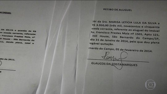 Recibos de aluguel apresentados por Lula foram assinados no mesmo dia