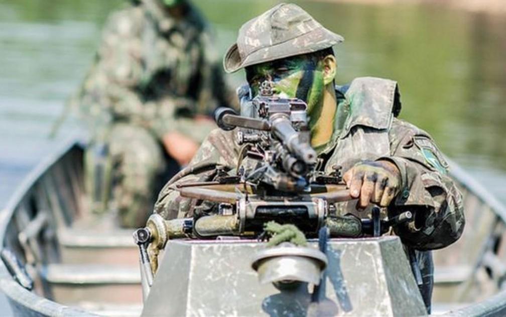 Exército brasileiro convidaram os EUA, em 2017, para participarem de um exercício militar na tríplice fronteira amazônica, entre Brasil, Peru e Colômbia — Foto: Exército Brasileiro