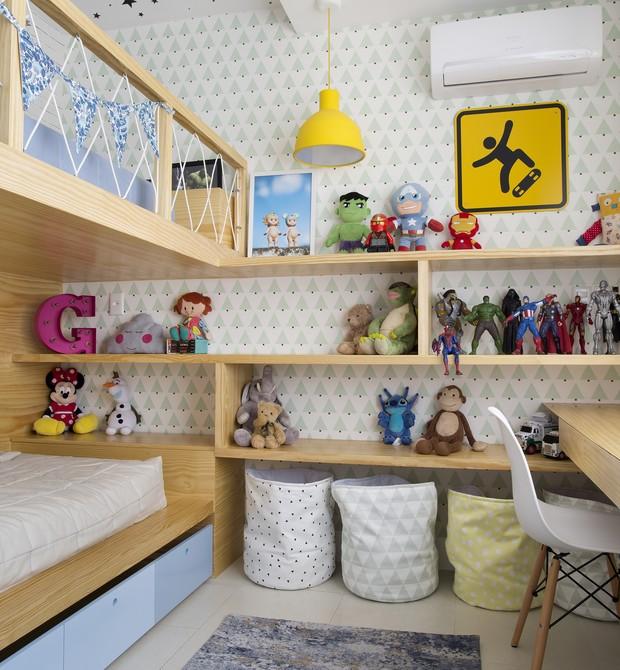 Esse quarto.... Não dá nem vontade de sair! (Foto: Divu/ Lz Mini + Bianca da Hora)