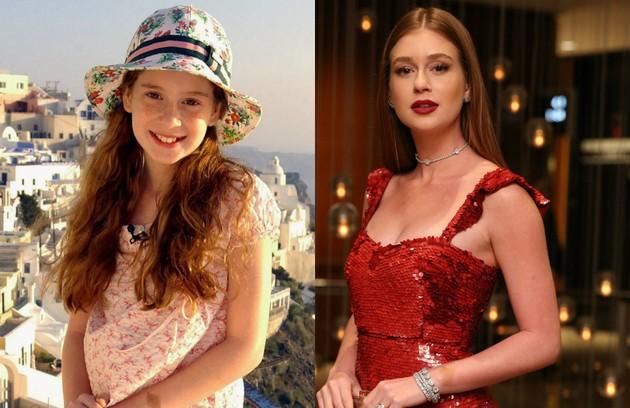 Marina Ruy Barbosa era Sabina, filha de Vitória (Claudia Abreu). A atriz, que tinha apenas 10 anos na época, hoje está no ar em 'Deus salve o rei' como Amália (Foto: TV Globo)