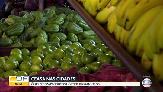 Ônibus da Ceasa leva alimento frescos para as regiões do DF
