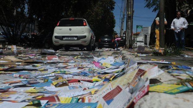 Panfletos terão de parar de ser distribuídos na véspera da votação (Foto: ELZA FIÚZA/AG. BRASIL (via BBC News Brasil))