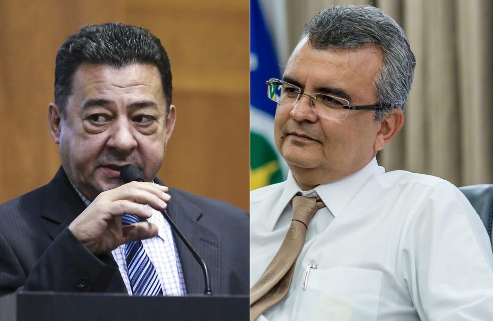 Deputado estadual Mauro Savi (à esquerda) e o ex-chefe da Casa Civil, Paulo César Zamar Taques (à direita) que é primo do governador de Mato Grosso, foram presos na Operação Bônus (Foto: Karen Malagoli/ALMT/Mayke Toscano/Secom-MT)