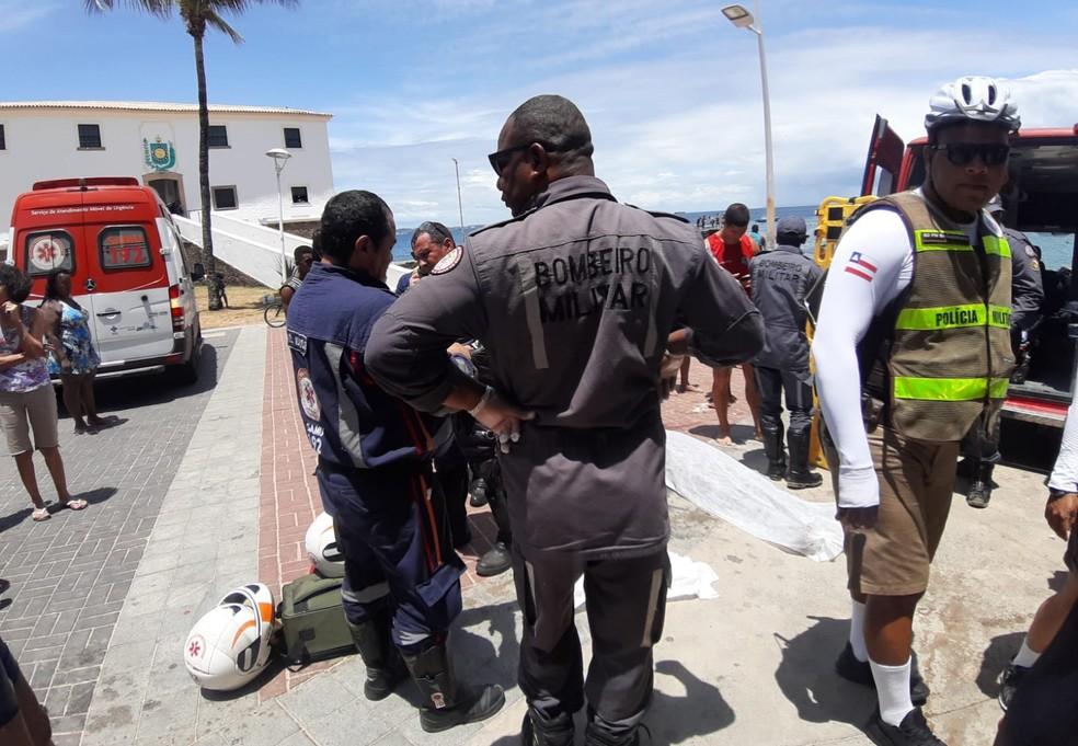 Caso ocorreu na manhã deste domingo — Foto: Raphael Marques/TV Bahia