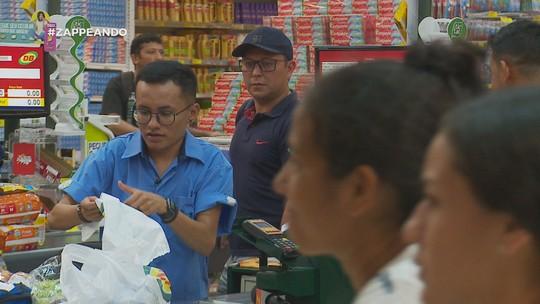 'Zappeando' tem tour em supermercado, Halloween e Hulk Pão