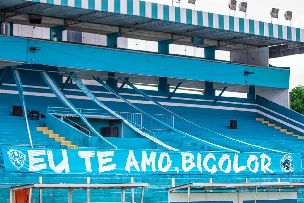 Arquibancada da Curuzu, estádio do Paysandu — Foto: Jorge Luís Totti/Ascom Paysandu