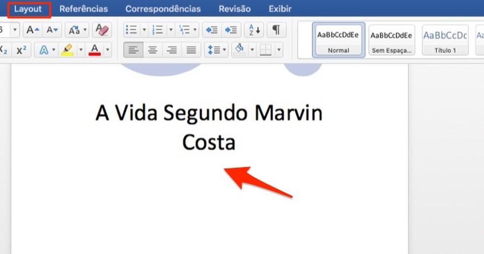 Ação para selecionar a última linha de texto em um documento do Microsoft Word — Foto: Reprodução/Marvin Costa