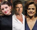 Camila Queiroz, Reynaldo Gianecchini e Marieta Severo | TV Globo