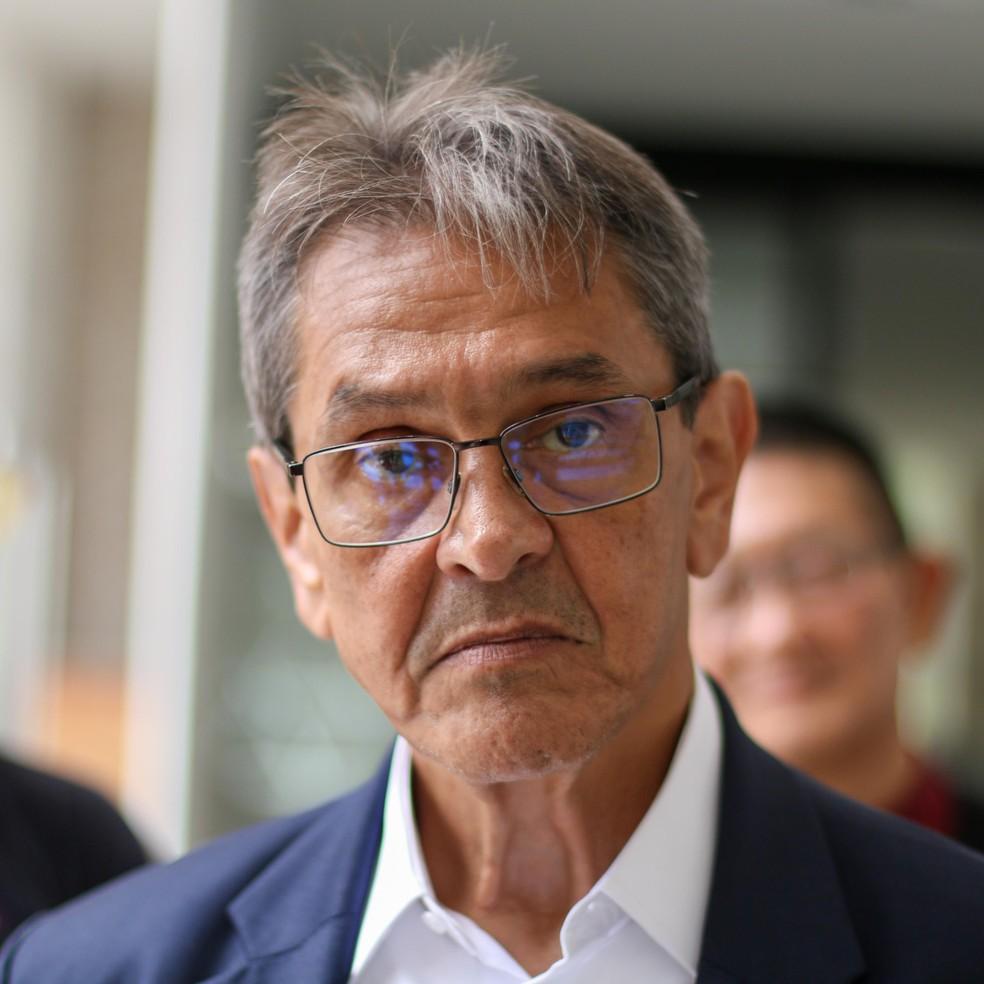 O presidente nacional do PTB, Roberto Jefferson, em evento em Curitiba em 26/02/2021  — Foto: Eduardo Matysiak/Futura Press/Estadão Conteúdo