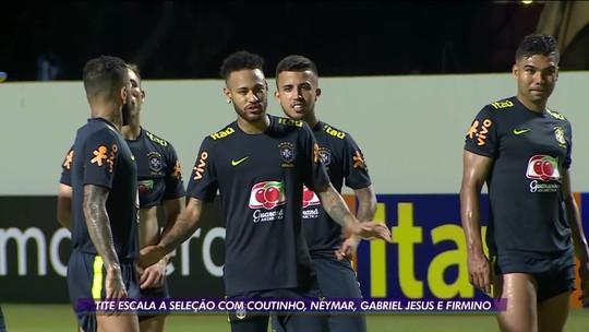 Seleção deve ter Coutinho, Neymar, Gabriel Jesus e Firmino contra Senegal