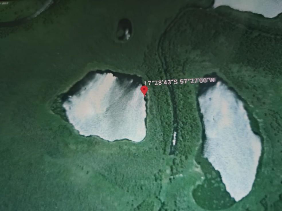 Helicóptero caiu em área de difícil acesso — Foto: Divulgação