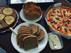 Alguns pratos preparados pela empresa de Natália (Foto: Natália Almeida Gabardo/Arquivo Pessoal)