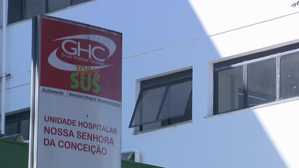 Hospital Conceição fica localizado na Zona Norte de Porto Alegre — Foto: Reprodução/RBS TV