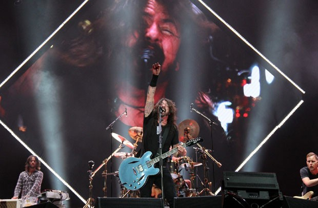 O show do Foo Fighters (Foto: AgNews / Wallace Barbosa)
