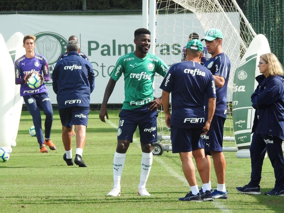 Ramires vai a campo e continua em evolução no Palmeiras — Foto: Felipe Zito