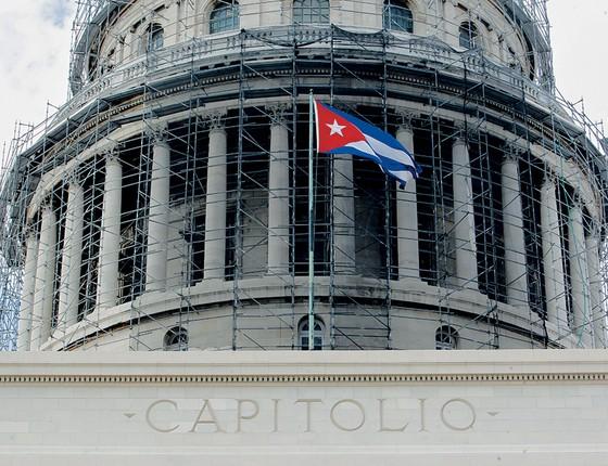 Assembleia Nacional em Havana. Nas eleições para o equivalente ao Parlamento, maquiou-se o regime cubano para tentar mostrar uma cara nova de poder (Foto: Ernesto Mastrascusa/Getty Images)