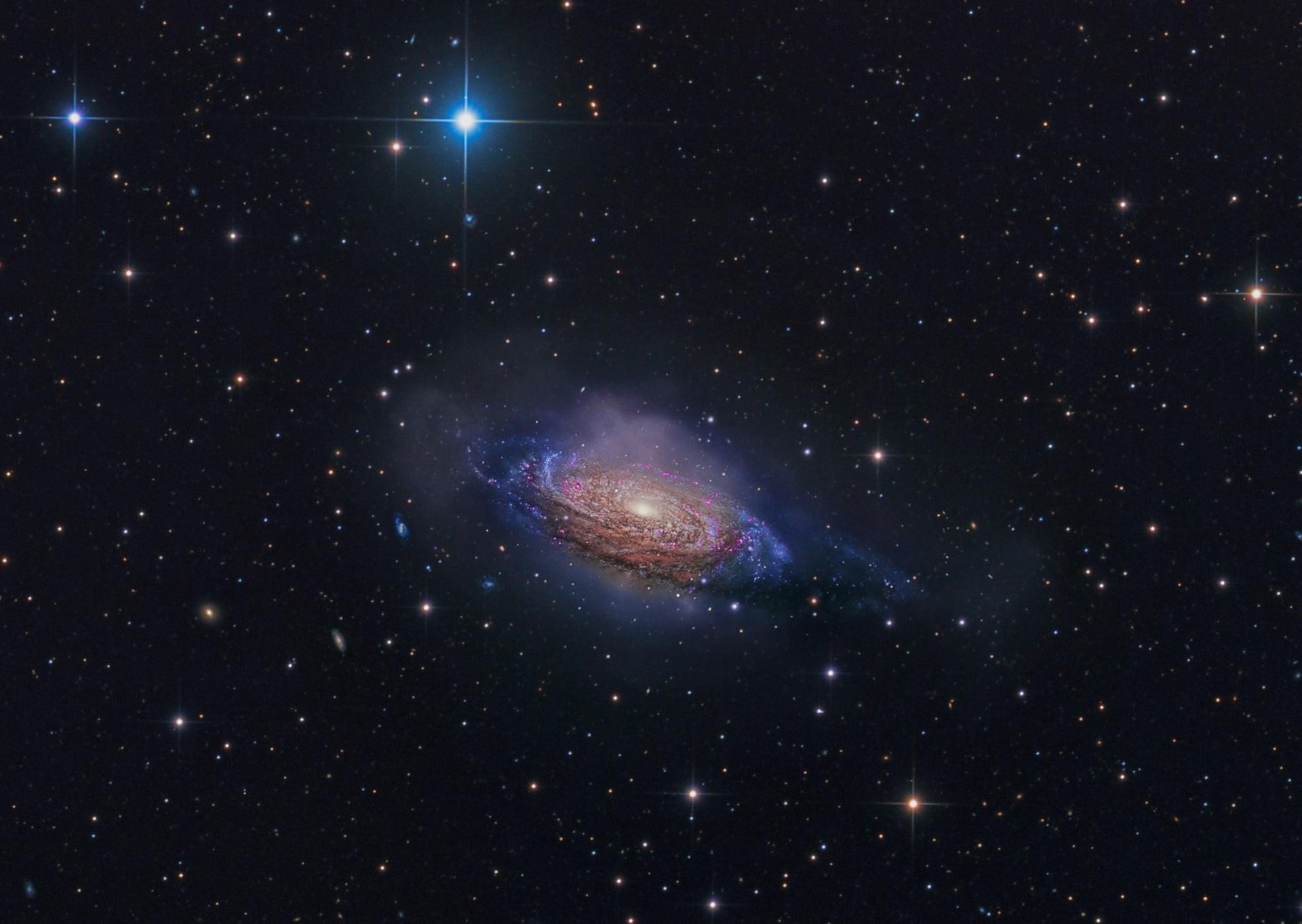 NGC 3521, Mysterious Galaxy do fotógrafo australiano Steven Mohr (Foto: Reprodução)